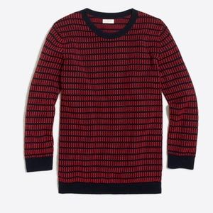 J. Crew Dot-Dash Three-Quarter Sleeve Sweater